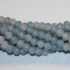 jssw0511-ron-6x8 apie 6 x 8 mm, rondelės forma, matinė, pilka spalva, marga danga, apie 72 vnt.