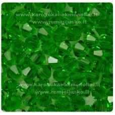 sw0518k apie 5 mm, tamsi, žalia spalva, skaidrus, 10 vnt.