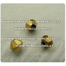 sw0530k apie 5 mm, bicone forma, auksinė spalva, 10 vnt.