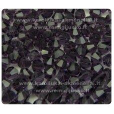 sw0535k apie 5 mm, violetinė spalva, skaidrus, 10 vnt.