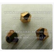 sw0539k apie 5 mm, bicone forma, tamsi, auksinė spalva, 10 vnt.