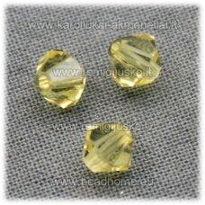 sw0587 apie 5 mm, bicone forma, skaidrus, gelsvas atspalvis, 10 vnt.