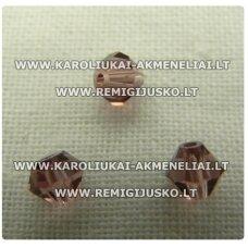 sw0614k apie 6 mm, bicone forma, alyvinė spalva, skaidrus, 10 vnt.