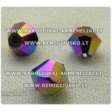 sw0633k apie 6 mm, bicone forma, marga, 10 vnt.