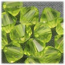 sw5125 apie 5 mm, bicone forma, skaidrus, skaidrus, salotinė spalva, 10 vnt.