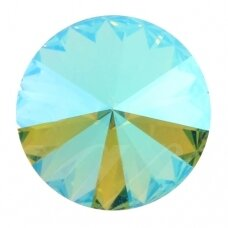 Swarovski 1122 Rivoli SS39 (8.3mm) Light Turquoise Blue AB (6 vnt)