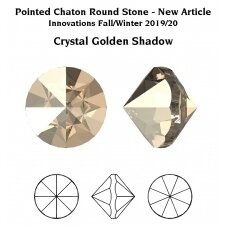 Swarovski 1185 Pointed Chaton PP22 (2.9mm) Crystal Golden Shadow unfoiled (60 vnt)