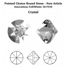 Swarovski 1185 Pointed Chaton PP22 (2.9mm) Crystal unfoiled (60 vnt)