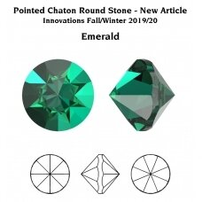 Swarovski 1185 Pointed Chaton PP22 (2.9mm) Emerald unfoiled (60 vnt)