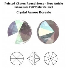 Swarovski 1185 Pointed Chaton PP9 (1.55mm) Crystal AB unfoiled (100 vnt)