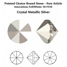 Swarovski 1185 Pointed Chaton PP9 (1.55mm) Crystal Metallic Silver unfoiled (100 vnt)