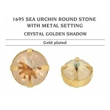 Swarovski 1695 Sea Urchin su detale 14mm Crystal Golden Shadow - Aukso padengimas (2 vnt)