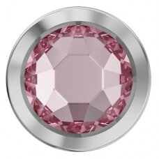 Swarovski 2078/H Framed Flat Back SS34 (7mm) Light Rose - Paladžiu padengtas rėmelis (8 vnt)