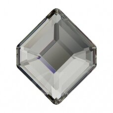 Swarovski 2777 Concise Hexagon 6.7x5.6mm Black Diamond (6 vnt)