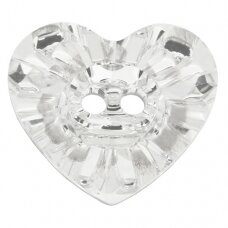 Swarovski 3023 Heart 14x12mm Crystal unfoiled (2 vnt)