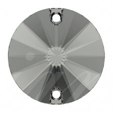 Swarovski 3200 Rivoli Round 14mm Black Diamond (2 vnt)
