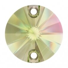 Swarovski 3200 Rivoli Round 14mm Crystal Luminous Green (2 vnt)