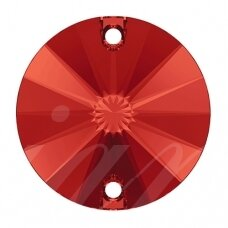 Swarovski 3200 Rivoli Round 14mm Light Siam (2 vnt)