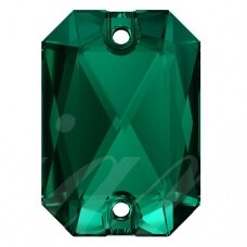 Swarovski 3252 Emerald Cut 14mm Emerald (2 vnt)