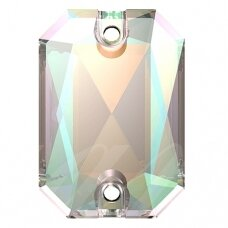 Swarovski 3252 Emerald Cut 20mm Crystal AB