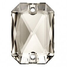 Swarovski 3252 Emerald Cut 20mm Crystal Silver Shade