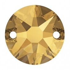 Swarovski 3288 XIRIUS Round 8mm Crystal Metallic Sunshine (6 vnt)