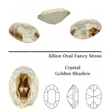 Swarovski 4128 XILION Oval 10x8mm Crystal Golden Shadow (2 vnt)