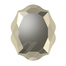 Swarovski 4142 Baroque Mirror 14x11mm Crystal Metallic Light Gold
