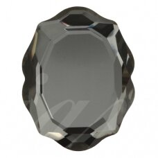 Swarovski 4142 Baroque Mirror 14x11mm Crystal Silver Night unfoiled