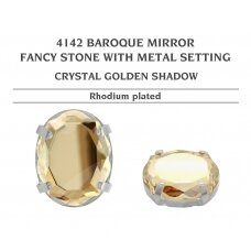 Swarovski 4142 Baroque Mirror su detale 14mm Crystal Golden Shadow - Rodžio padengimas
