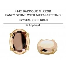 Swarovski 4142 Baroque Mirror su detale 14mm Crystal Rose Gold - Aukso padengimas
