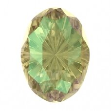 Swarovski 4160 Mystic Oval 14x10mm Crystal Luminous Green