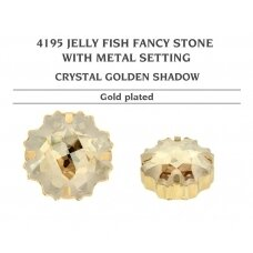 Swarovski 4195 Jelly Fish su detale 14mm Crystal Golden Shadow - Aukso padengimas