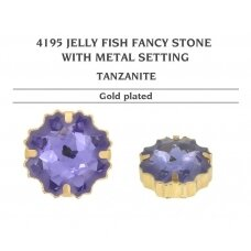 Swarovski 4195 Jelly Fish su detale 22mm Tanzanite - Aukso padengimas