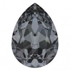 Swarovski 4320 Pear 10x7mm Crystal Silver Night (2 vnt)