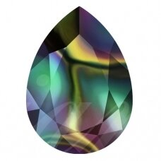 Swarovski 4320 Pear 14x10mm Crystal Rainbow Dark