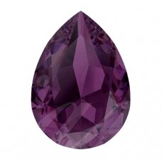 Swarovski 4320 Pear 8x6mm Amethyst Ignite (2 vnt)