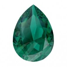 Swarovski 4320 Pear 8x6mm Emerald Ignite (2 vnt)