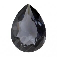 Swarovski 4320 Pear 8x6mm Graphite unfoiled (2 vnt)