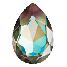 Swarovski 4327 Pear 30x20mm Crystal Army Green DeLite