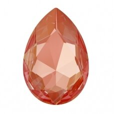Swarovski 4327 Pear 30x20mm Crystal Orange Glow DeLite