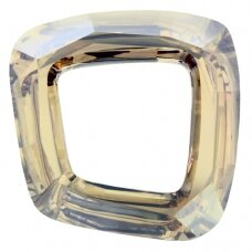 Swarovski 4437 Cosmic Square Ring 20mm Crystal Golden Shadow unfoiled
