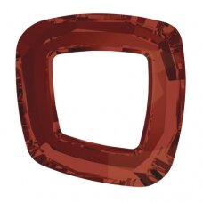 Swarovski 4437 Cosmic Square Ring 20mm Crystal Red Magma unfoiled