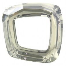 Swarovski 4437 Cosmic Square Ring 20mm Crystal Silver Shade unfoiled