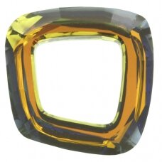 Swarovski 4437 Cosmic Square Ring 20mm Crystal Tabac unfoiled