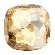 Swarovski 4483 Fantasy Cushion 14mm Crystal Golden Shadow