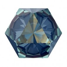 Swarovski 4699 Kaleidoscope Hexagon 14x16mm Crystal Royal Blue DeLite