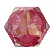 Swarovski 4699 Kaleidoscope Hexagon 6x6.9mm Crystal Lotus Pink DeLite (4 vnt)
