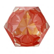Swarovski 4699 Kaleidoscope Hexagon 6x6.9mm Crystal Orange Glow DeLite (4 vnt)