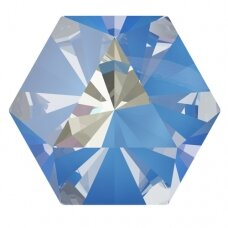 Swarovski 4699 Kaleidoscope Hexagon 9.4x10.8mm Crystal Ocean DeLite (2 vnt)